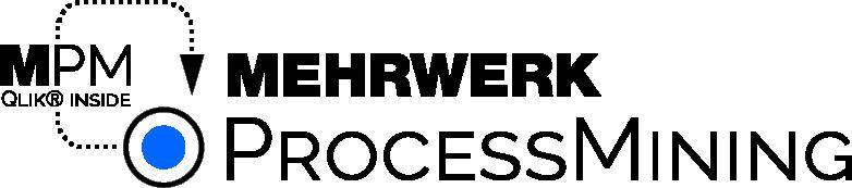 Process Mining MPM Qlik inside Logo dark