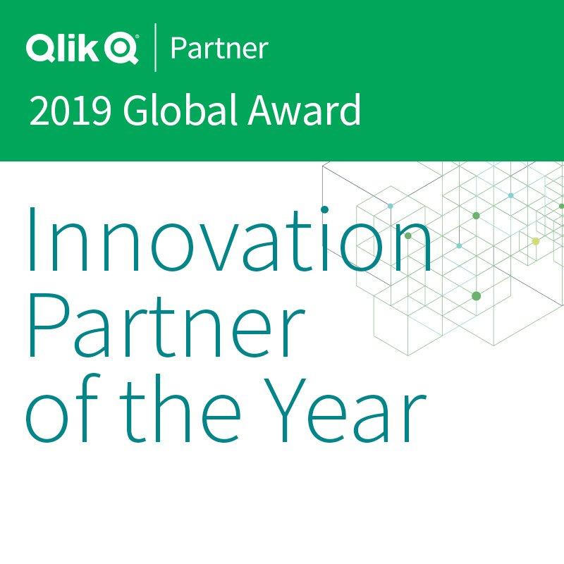 Qlik Partner 2019 Global Award Innovation Partner of the Year